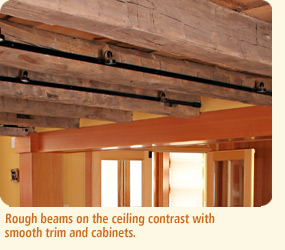 Hall house rough beams